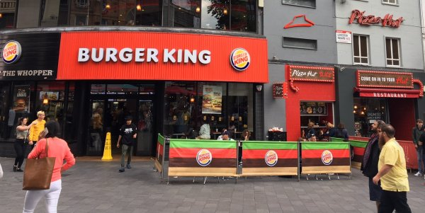 Burger king and pizza hut